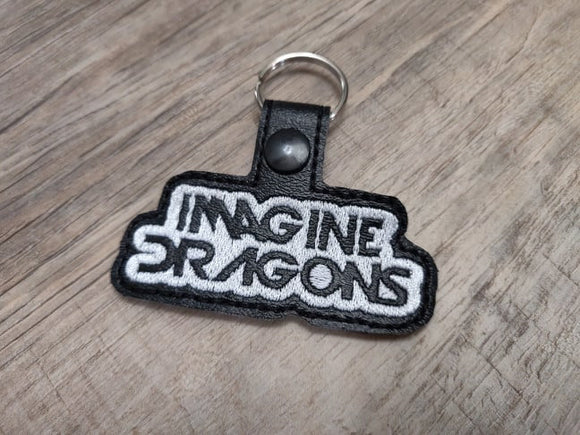 ITH Digital Embroidery Pattern for Imagine Dragons Snap Tab / Key Chain, 4x4 hoop