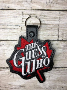 ITH Digital Embroidery Pattern for The Guess Who Snap Tab / Key Chain, 4x4 hoop