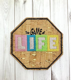 ITH Digital Embroidery Pattern for The Game of Life Set of 2 Coasters, 4x4 hoop