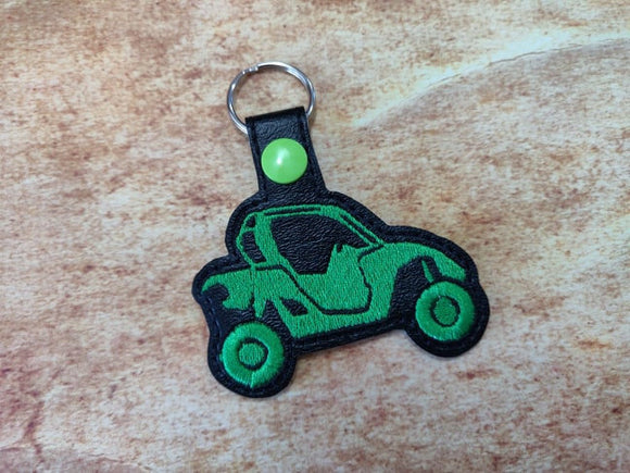 ITH Digital Embroidery Pattern for ATV Side By Side II Snap Tab / Key Chain, 4x4 hoop