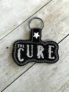 ITH Digital Embroidery Pattern for The Cure Snap Tab / Key Chain, 4x4 hoop