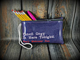 "ITH Digital Embroidery Pattern for Pencil Orgy Zipper Bag,  5"" X 7 3/4"""