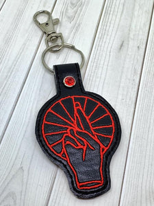 ITH Digital Embroidery Pattern for Anberlin Band Snap Tab / Key Chain, 4x4 hoop