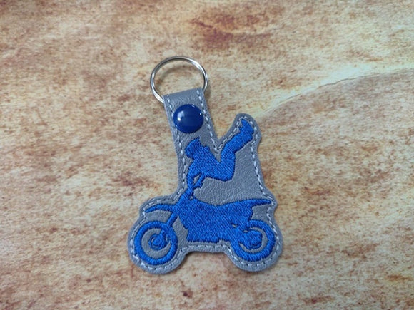 ITH Digital Embroidery Pattern for MX Freestyle Trick Indian Air 2 Snap Tab / Key Chain, 4x4 hoop