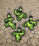 ITH Digital Embroidery Pattern for MX Freestyle Trick Rock Solid Snap Tab / Key Chain, 4x4 hoop