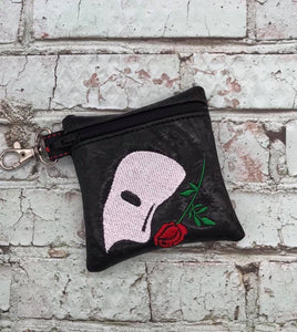 ITH Digital Embroidery Pattern for Band Zip Bag PH O, 4x4 hoop
