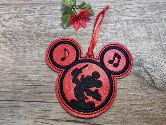 ITH Digital Embroidery Pattern for Conductor Mr Mouse Ornament, 4x4 hoop