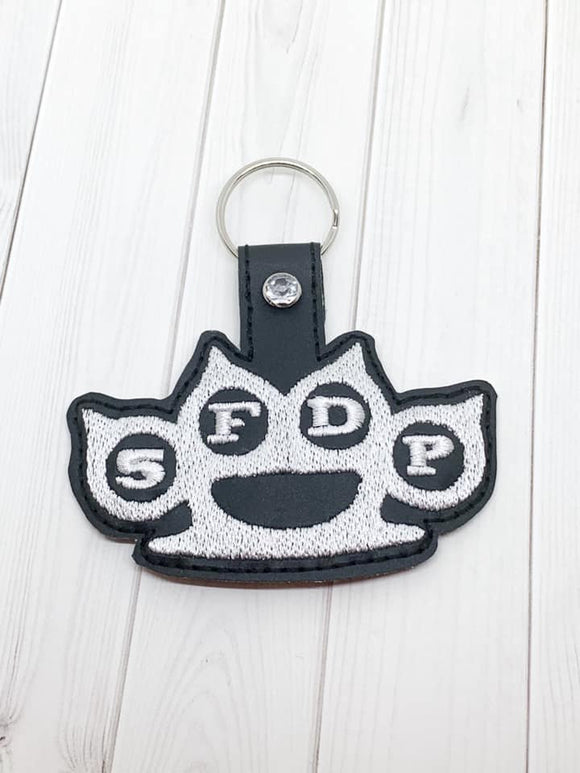 ITH Digital Embroidery Pattern for 5FDP Snap Tab / Key Chain, 4x4 hoop