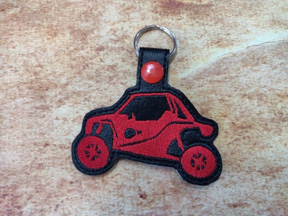 ITH Digital Embroidery Pattern for ATV Side By Side I Snap Tab / Key Chain, 4x4 hoop
