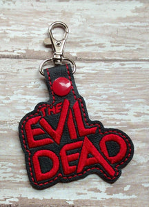 ITH Digital Embroidery Pattern for The Evil Dead Snap Tab / Key Chain, 4x4 hoop