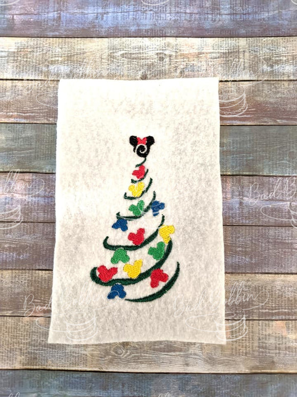 ITH Digital Embroidery Pattern for Mick Tree Stand Alone Design, 4X4 Hoop