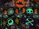 ITH Digital Embroidery Pattern for Halloween Candy Banner Set of 9, 4X4 Hoop & 5X7 Hoop