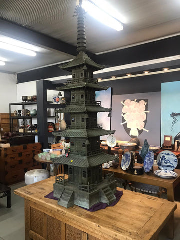 six tiered bronze pagoda