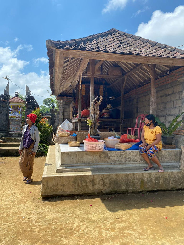 Two women in a Balinese home