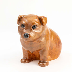 Japanese Pottery Model Of A Puppy -C20MM109