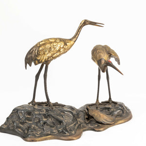 Japanese Model of Two Cranes and A Tortoise