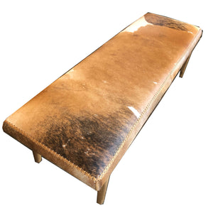 Contemporary cowhide straight bench - ICF18012
