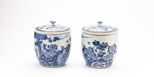 Contemporary Chinese a pair of Blue and White Jars -CHC18A126