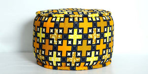 African cotton Pouf - ZZD14029 - SOLD