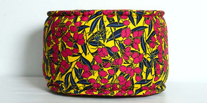 African cotton pouf - ZZD14036 - SOLD