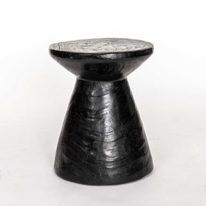 Contemporary Black Lacquer Side Table- ICF20006