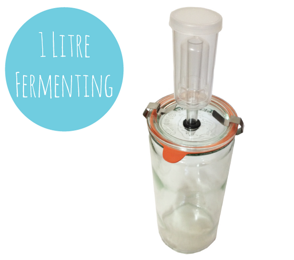 1 Litre Weck Fermenting Jar with Airlock