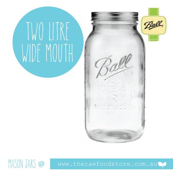 2 Litre Wide Mouth Ball Mason Jar with lid at  The Raw Food Store