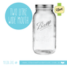 2 Litre Wide Mouth Ball Mason Jar with lid