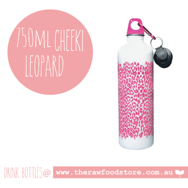 Leopard - Cheeki Stainless Steel Bottle - 750ml
