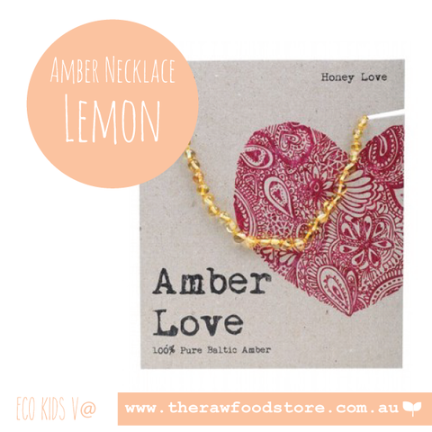 Amber Love - Honey - Amber Necklace 33cm