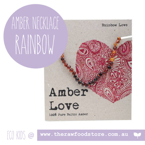 Amber Love - Rainbow - Amber Necklace 33cm