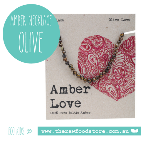 Amber Love - Olive Amber Necklace 33cm