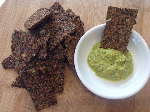Raw Chia Seed Crackers