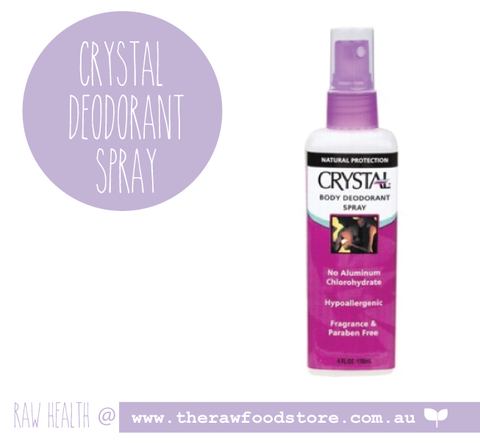 Crystal Body Deodorant - SPRAY - 118ml at The Raw Food Store
