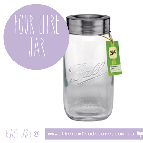 4Litre Ball Mason Jar with lid