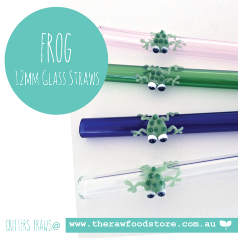 Frog - 12mm Glass Straw