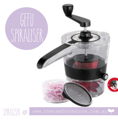 GEFU Spiral Slicer Spiralfix at The Raw Food Store Australia