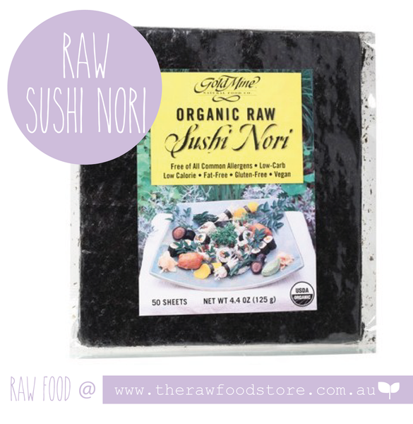 Gold Mine Raw Sushi Nori - The Raw Food Store Australia