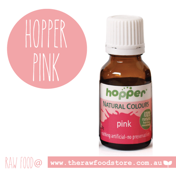 Hopper Natural Food Colouring Pink 20g