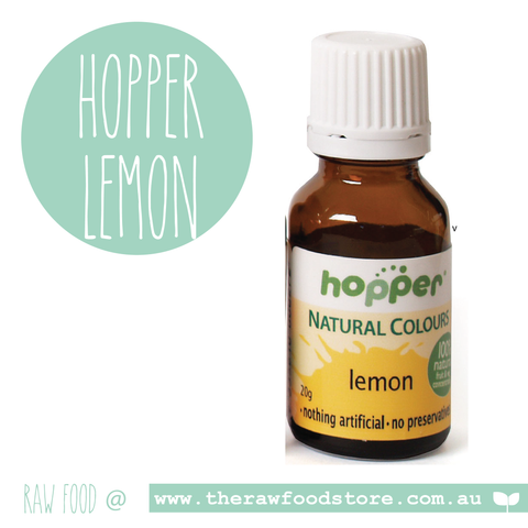 Hopper Natural Food Colouring Lemon 20g