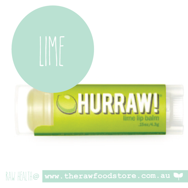 Hurraw! Raw Vegan Lip Balm - LIME
