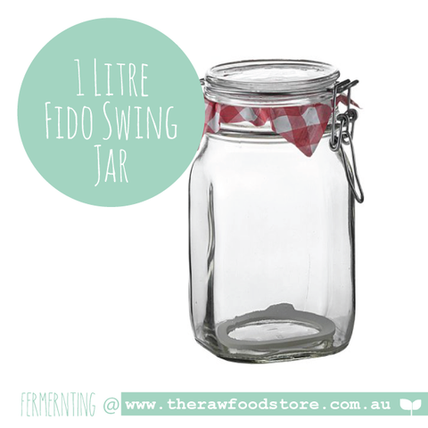 Jar Fido Swing Top Preserving 1 litre - Bormioli Rocco