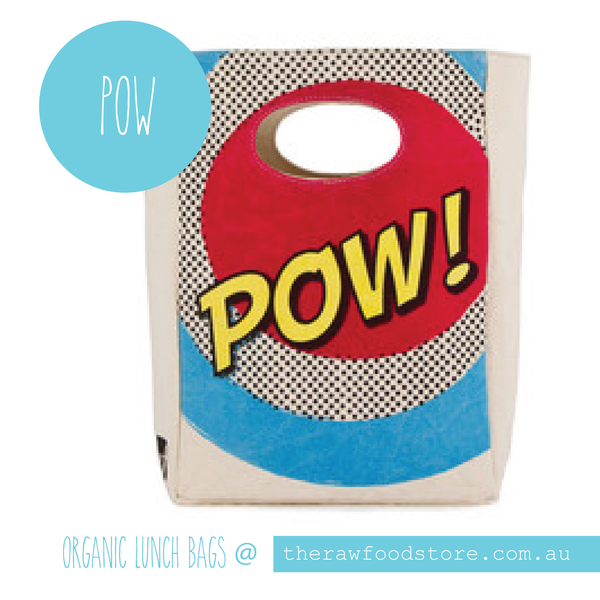Organic Lunch Bags available at The Raw Food Store