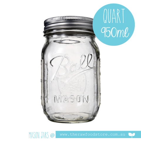 Ball Mason  - Quart (950mls) Regular Mouth Jar with lid