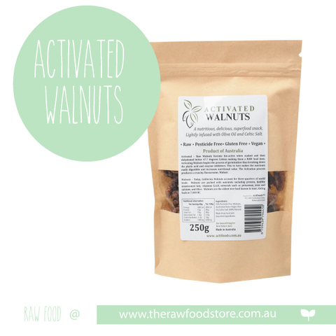 ACTIVATED Walnuts- RAW & ORGANIC 250grams