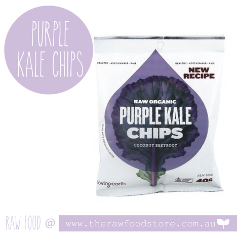 Loving Earth Organic Purple Kale Chips 40g