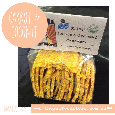 Raw Carrot and Coconut Crackers 100g