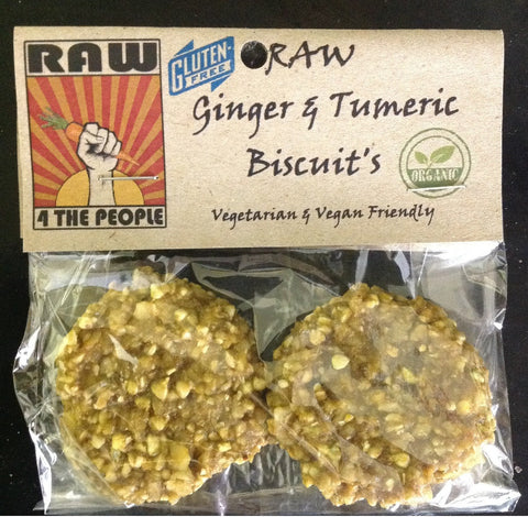 RAW Ginger and Turmeric Biscuits