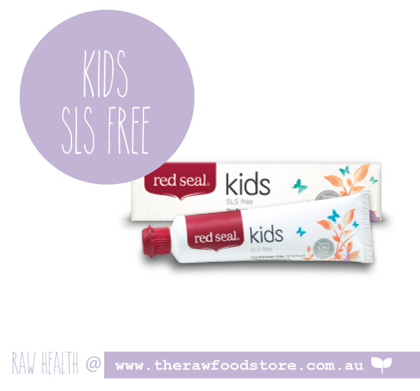 Red Seal SLS Free toothpaste - KIDS NATURAL - 75g at The Raw Food Store