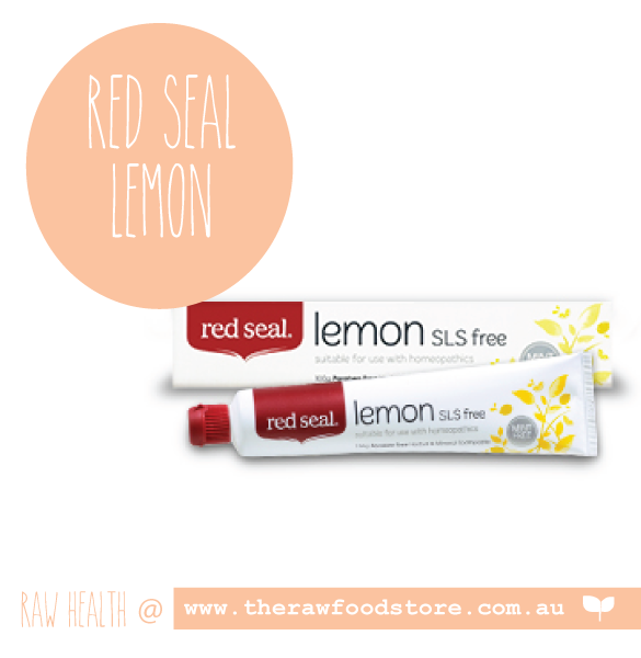 Red Seal SLS Free toothpaste - LEMON at The Raw Food Store